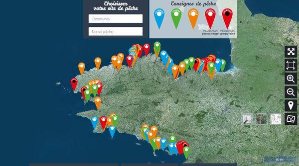 Etat des lieux des consignes de pêche à pied en Bretagne le 23 avril 2021.