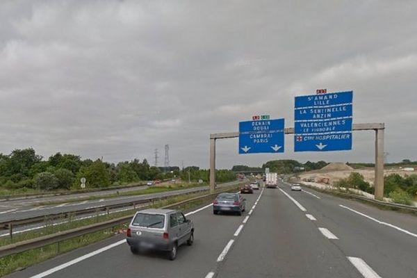 L'accident a eu lieu à Valenciennes, à l'embranchement A2-A23.