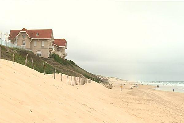 A Biscarrosse, le littoral a reculé de 15 mètres depuis 2014.