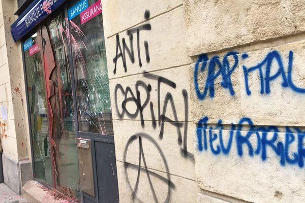 Montpellier après le passage de la manifestation - 14 avril 2018