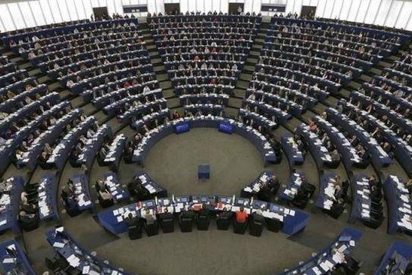 L'hémicycle du parlement européen, à Strasbourg