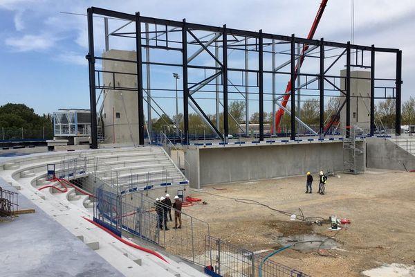 L'Arena de Narbonne est en cours de travaux. La salle multimodale sera inaugurée le 21 décembre prochain.