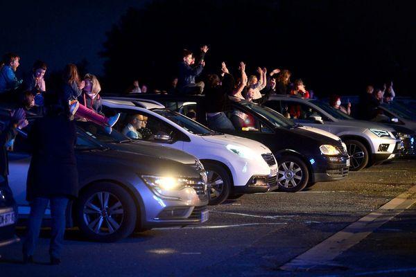 Premier concert post déconfinement en Drive In à Albi dans le Tarn