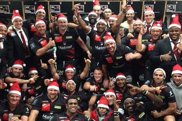 Les joueurs ont célébré Noël dans la bonne humeur après une première partie de championnat très réussi