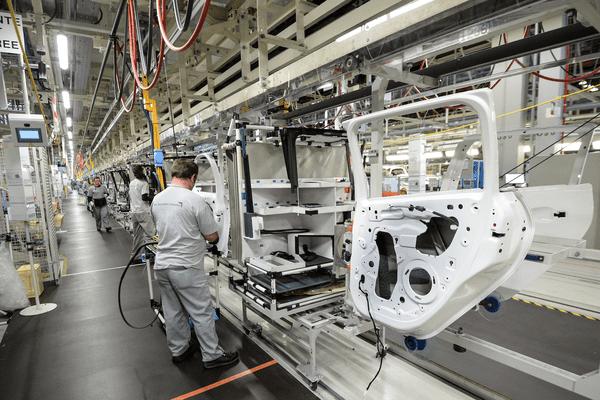L'usine PSA de Mulhouse, en octobre 2017.