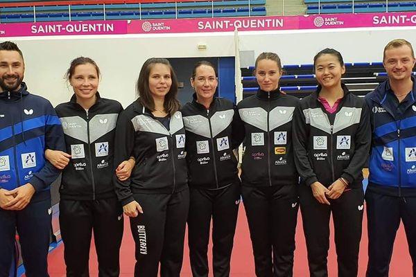 C'est la première fois qu'une équipe de tennis de table féminine française parvient à atteindre le carré final du championnat d'Europe.