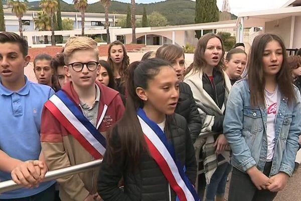 Les élèves du collège de La Farlède