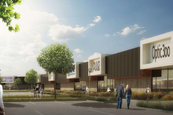 Le futur parc commercial de Pusey