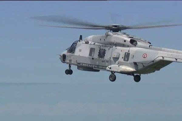 Un hélicoptère CAIMAN du même type qui est intervenu sur le Stenaca II