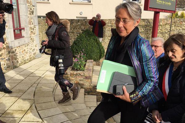Elizabeth Borne à Gouville-sur-Mer ce vendredi 14 février