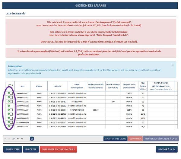 Capture du formulaire dématérialisé de demande d'activité partielle