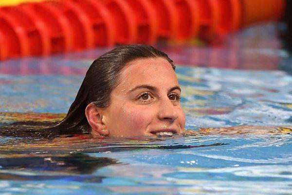 Charlotte Bonnet tout sourire après sa victoire sur 100m samedi soir.