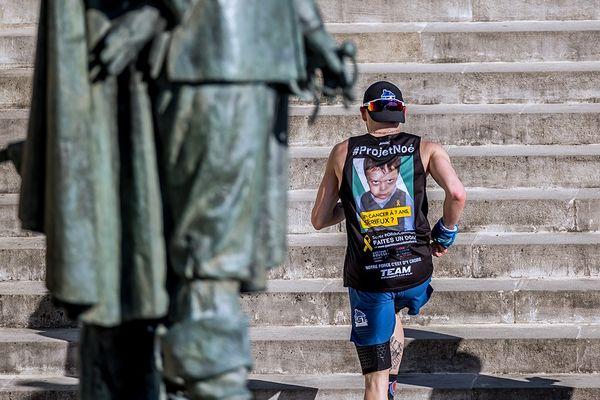 """Joris Jacquard a réalisé son deuxième """"Everest Run"""" de l'année dans le cadre du #ProjetNoé."""