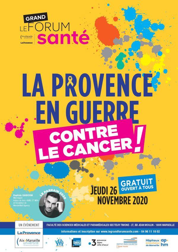 Le grand forum santé a été créé en 2009 par La Provence et Aix-Marseille Université avec une volonté de médiatiser des enjeux de santé publique à travers de grandes campagnes de sensibilisation.