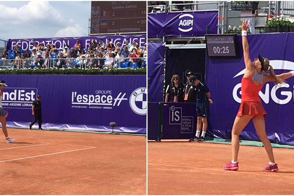 Dayana Yastremska face à Caroline Garcia en finale des IS de Strasbourg le 25 mai 2019
