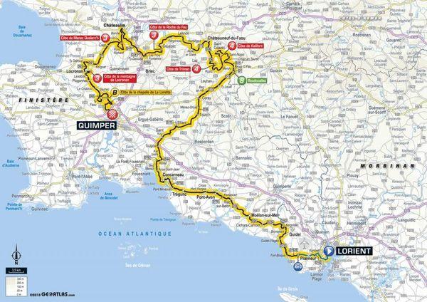 La carte de la 5e étape du Tour 2018