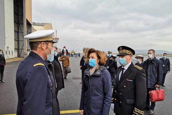 La ministre des Armées Florence Parly était en visite à Clermont-Ferrand ce jeudi 15 octobre pour constater les progrès en termes de délais de maintenance réalisés par l'AIA (l'atelier industriel de l'aéronautique).