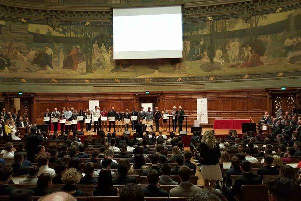 La remise des diplômes des meilleurs ouvriers de France à La Sorbonne le mercredi 20/04/2016