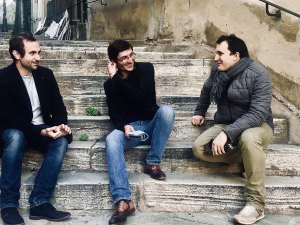 Ange-Toussaint Pietrera, Petru Santu Menozzi, et Julian Mattei (de gauche à droite)