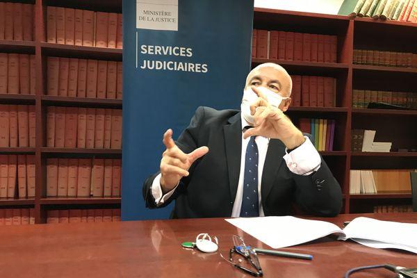 Conférence presse du procureur de Nantes, Pierre Sennès, le 8 octobre 2020