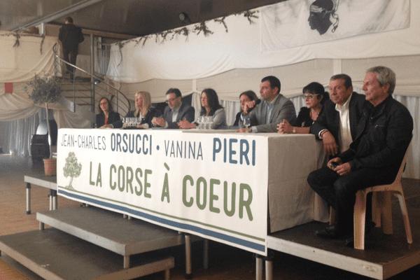 """25/10/15 - Présentation de la liste Orsucci-Pieri à Ajaccio, """"La Corse à coeur"""""""