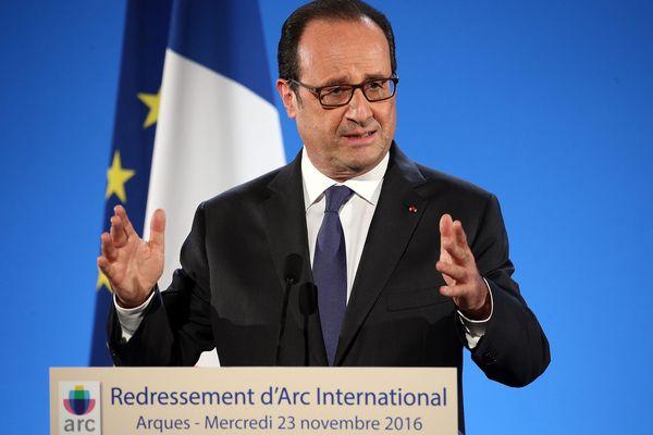 Hollande à Arques, le 23/11/2016