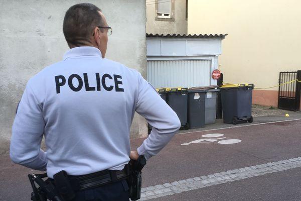 Sur les lieux du drame, à Mulhouse.