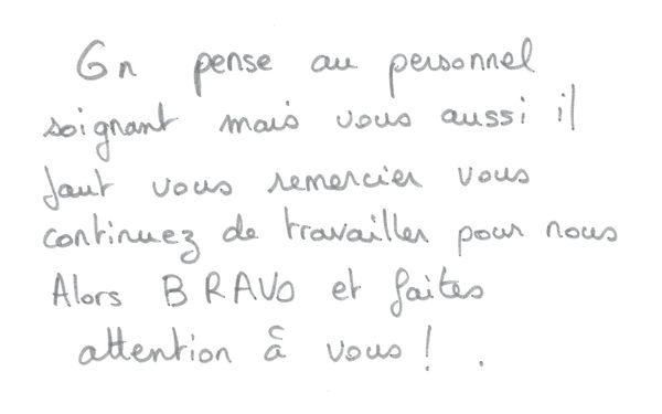 A Reims, les pensées des habitants ne vont pas seulement au personnel soignant
