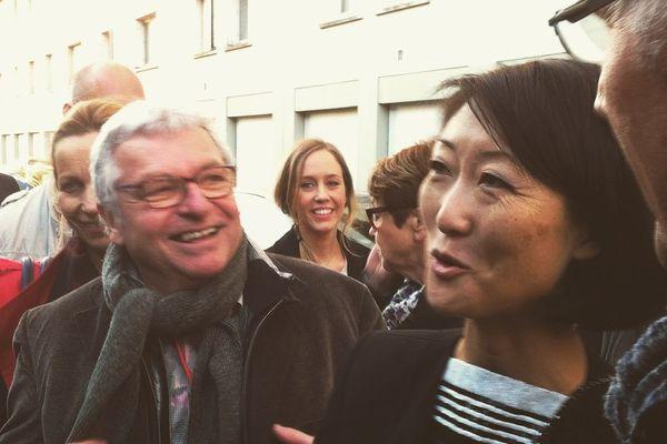 La ministre de la Culture, Fleur Pellerin, en visite à Bourges, le 29 avril 2015.