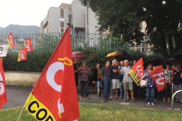 """28/06/2018 - Contre """"la casse des statuts"""", manif de la CGT à Bastia (Haute-Corse)"""