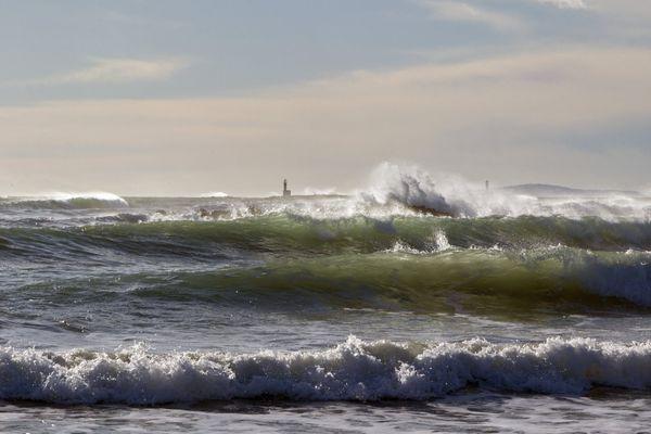 La houle sur le littoral héraultais (photo d'illustration) - archives.