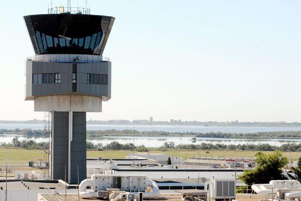 La tour de contrôle de l'aéroport de Montpellier.