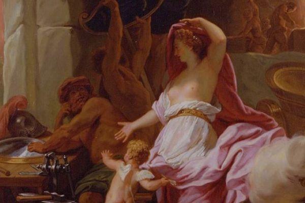 « Vénus dans la forge de Vulcain », huile sur toile de Jean Jouvenet (1644-1717) - Galerie Jean-François Heim - Bâle