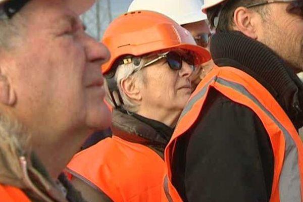 Le public a pu découvrir le chantier de la LGV mardi matin à Lattes, sous la conduite d'un ingénieur