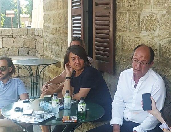 Paul-Félix Benedetti et ses colistiers étaient en tournée dans la région ajaccienne mercredi 16 juin.