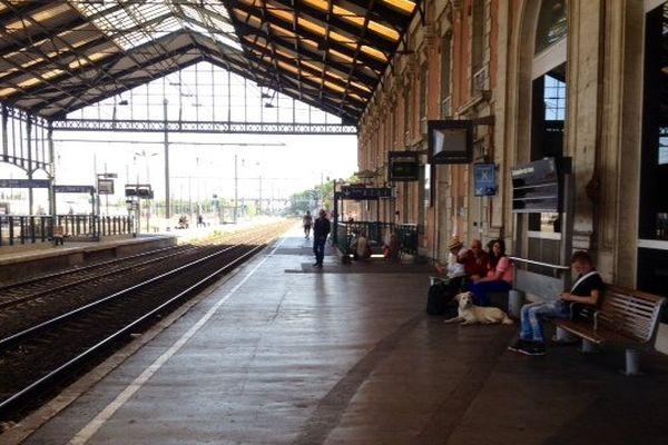 Grève à la gare de Narbonne - juin 2014.
