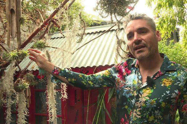 Anthony Bazin est botaniste passionné vit en Ardèche. Depuis 20 ans, il a patiemment transformé son jardin en paradis tropical. Et comme il aime en faire profiter, il a ouvert les portes de sa maison de Privas, en Ardèche.