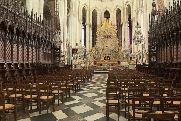 Dès le 24 mai, la messe dominicale à la cathédrale d'Amiens accueillera des fidèles, les premiers depuis le confinement.