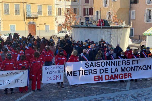 Manifestation des saisonniers, ce lunidi 30 novembre à Barcelonnette
