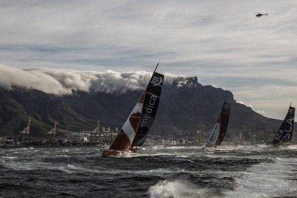 Novembre 2014 : les concurrents de la Volvo Ocean Race à Cape Town en Afrique du Sud