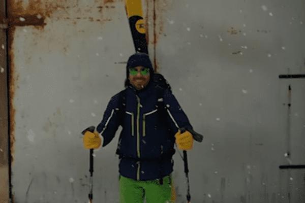 Ce skieur a pu dévaler les pistes ou plutôt les rues de Sète durant l'épisode neigeux du mercredi 28 février 2018