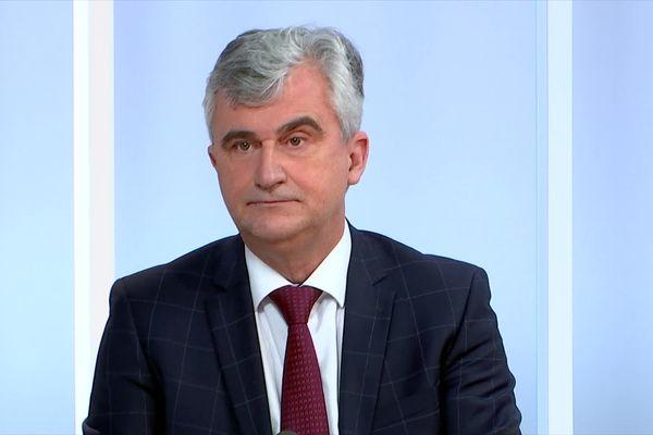 André Accary, sur le plateau de Dimanche en politique, en janvier 2021.