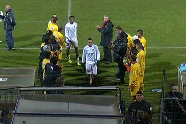 Mende : les joueurs de l'AFL éliminés la tête haute en Coupe de France par Lyon-Duchère - 16 novembre 2013.