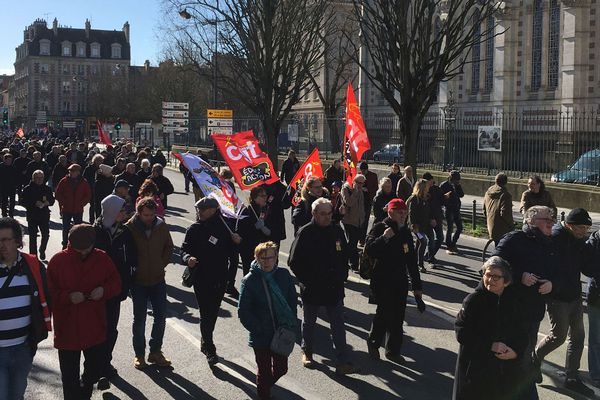 La manifestation rennaise de ce jeudi 20 février 2020