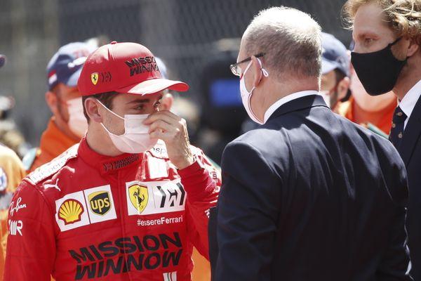 Charles Leclerc (Ferrari) abandonne le Grand Prix de Monaco.