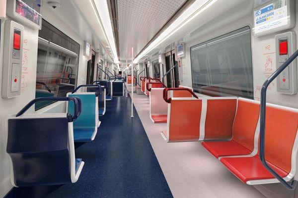 """Vue intérieure du projet de futur métro marseillais """"S'amuser des contrastes""""."""