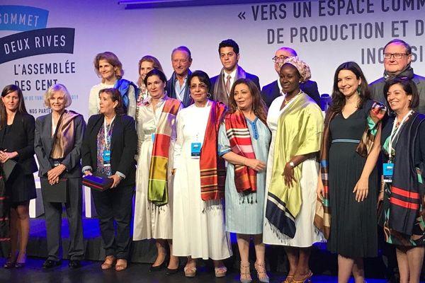 Les représentants des 10 pays euro-méditerranéens réunis une dernière fois à Tunis, le 12 juin 2019, avant de se retrouver au Sommet des deux Rives à Marseille.