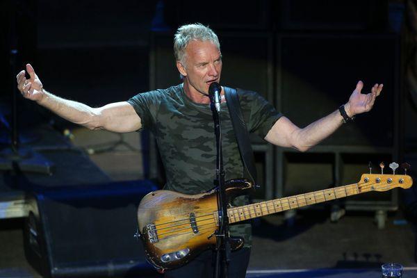 Sting, ici en concert en juin 2018 à Athènes