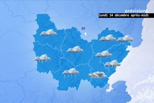 Les prévisions de Météo-France pour l'après-midi du lundi 24 décembre