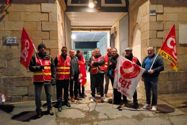 Des membres du personnel de la maison d'arrêt de Vannes mobilisés